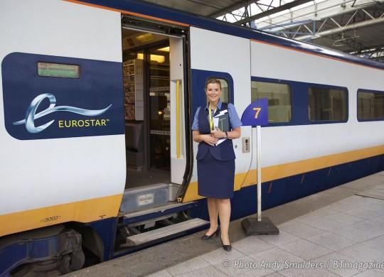EUROSTAR TRAIN BRUSSEL LONDON BUSINESS PREMIER