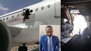 Photos of the damage to Daallo airlines taken after the emergency landing. Two passengers were injured. #Somalia