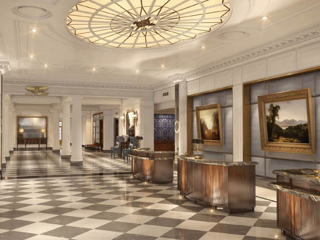 Intercontinental new york barclay hotel reopens following for Barclay home design